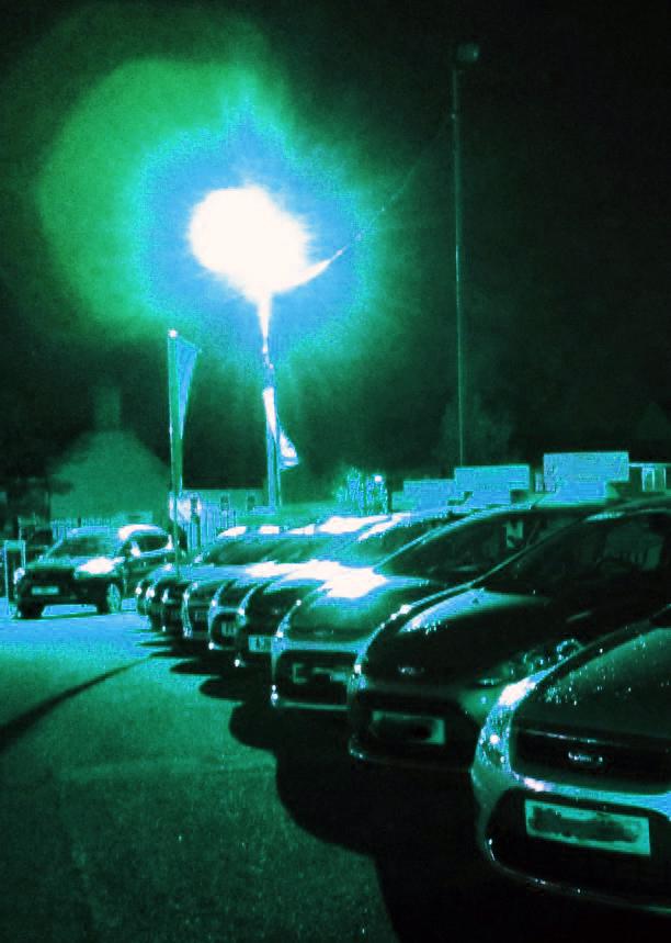 Car lot blue MTN