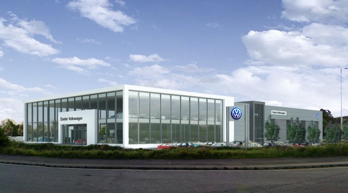 New VW Showroom Matford green